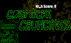 Cosmicat Crunchies - Title Screen Detail