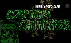 Cosmicat Crunchies - Title Screen with High Score